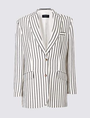 Limited Edition Linen Blend Striped Blazer