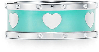 Tiffany & Co. Return to TiffanyTM Love narrow heart ring in sterling silver with enamel finish - Size 4