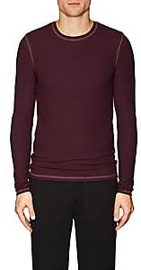 ATM Anthony Thomas Melillo MEN'S RIB-KNIT T-SHIRT - RED SIZE M