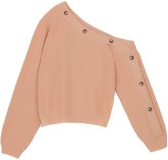 Nanushka Textured One-Shoulder Sweater
