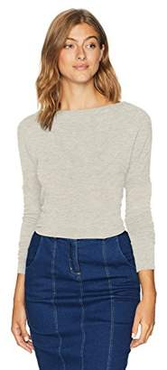 Monrow Women's Supersoft L/S Top with Open Back Twist