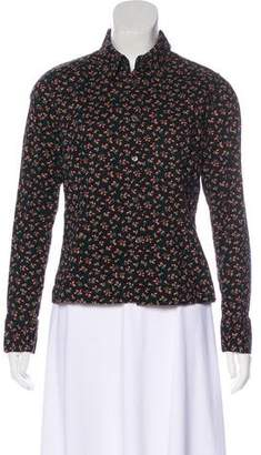 Liberty of London Designs Button-Up Long Sleeve Top