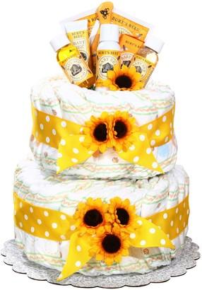 Burt's Bees Baby Baby Organic Diaper Cake Gift Basket - Neutral