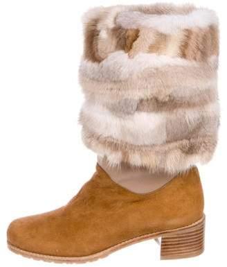 Stuart Weitzman Fur Ankle Boots