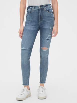 Gap High Rise Rip & Repair Favorite Jeggings with Secret Smoothing Pockets