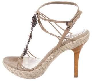 Christian Dior Embellished Suede Sandals