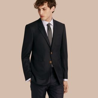 Burberry Modern Fit Tailored Wool Half-canvas Jacket $1,095 thestylecure.com