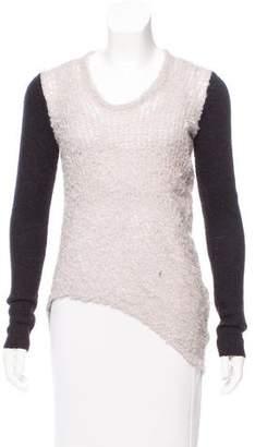 Helmut Lang Asymmetrical Open Knit Sweater