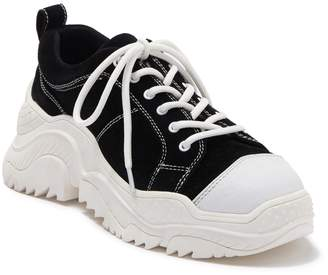 Jeffrey Campbell Remnant Suede Chunky Platform Sneaker