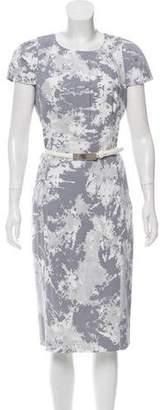Michael Kors Abstract Print Midi Dress