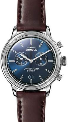 Shinola Men's 42mm Bedrock Chronograph Watch