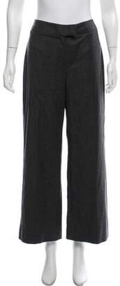 Burberry Wool-Blend Wide-Leg Pants