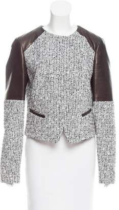 Michael Kors Leather Trimmed Tweed Jacket