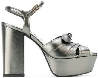 Saint Laurent Farrah Bow sandals