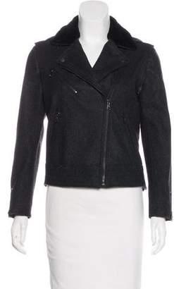 Rag & Bone Shearling-Trimmed Wool Jacket