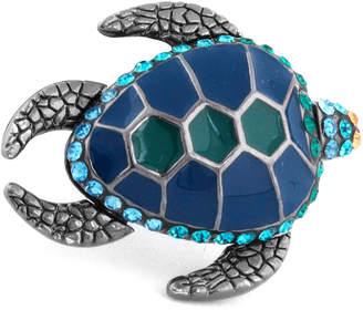 Tateossian Swarovski® Turtle Lapel Pin, Blue