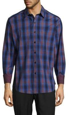 Robert Graham Tonal Plaid Shirt