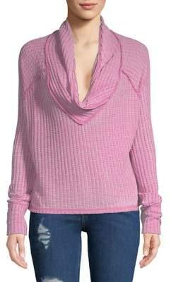 Free People Ribbed Shawl Collar Sweater