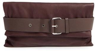 Allsaints 'Large Zoku' Leather Clutch - Brown $298 thestylecure.com