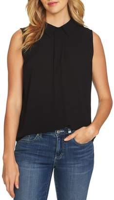 CeCe Collared Pleat Front Blouse