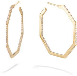 Lana 14k Gold & Diamond Hexagon Hoop Earrings