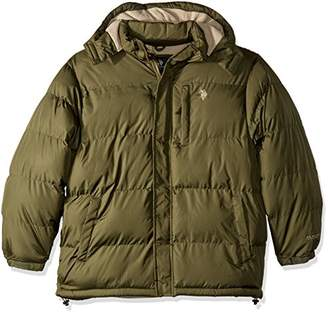 U.S. Polo Assn. Men's Standard Puffer Jacket with Polar Fleece Lining