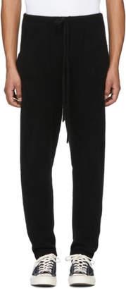 The Elder Statesman Black Heavy Cashmere Lounge Pants