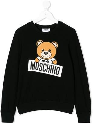 Moschino Kids Teddy Toy print sweatshirt