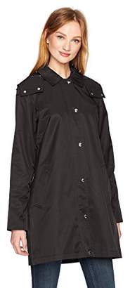 Tommy Hilfiger Women's Aline Hooded Raincoat with Zipout Lining