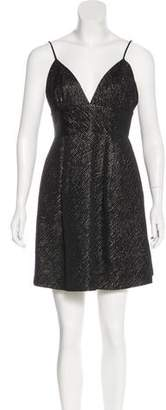 Milly Metallic-Accented Mini Dress