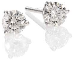 Kwiat Diamond & Platinum Stud Earrings/0.7 TCW