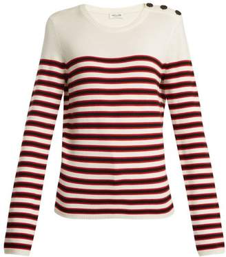 Saint Laurent Striped Wool Sweater - Womens - Red Stripe