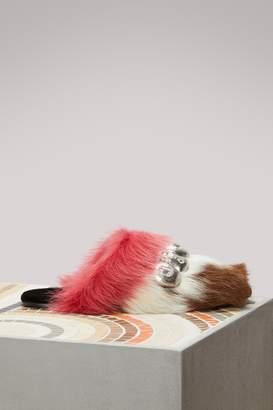 Prada Flat fur sandals