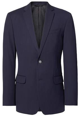 Banana Republic Slim Navy Pinstripe Wool Suit Jacket