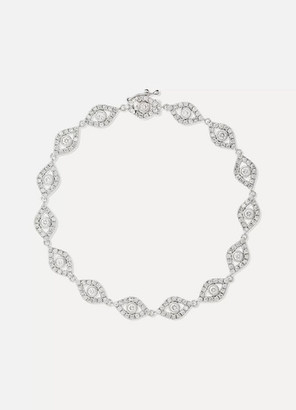 Sydney Evan Evil Eye 14-karat White Gold Diamond Bracelet