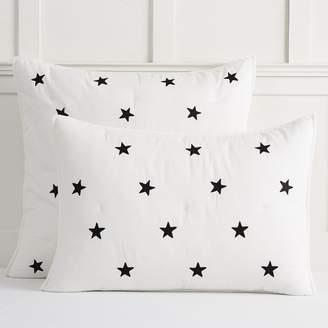 Pottery Barn Teen The Emily & Meritt Embroidered Star Sham, Standard, Black/Ivory
