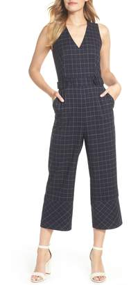 Vince Camuto Windowpane Jumpsuit