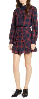 The Fifth Label Nash Ruffle Plaid Top