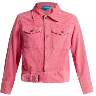 MiH Jeans Paradise Cropped Corduroy Jacket - Womens - Pink
