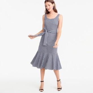 Petite gingham ruffle-hem dress $128 thestylecure.com