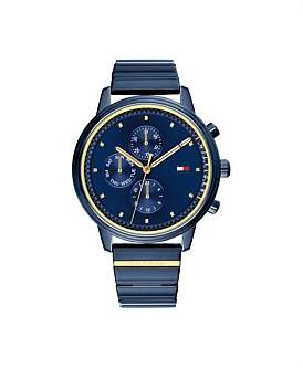 Tommy Hilfiger Multifunction Watch Steel And Gold Bracelet