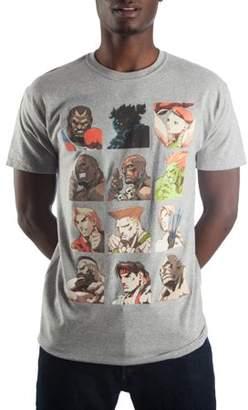 Gaming Big Men's Heather Gray Street Fighter Select Screen T-shirt