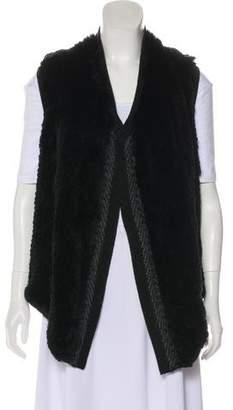 Vince Fur-Paneled Wool Vest