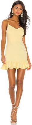 1 STATE Spaghetti Strap Ruffle Hem Slip Dress