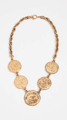 Chanel What Goes Around Comes Around CC Coins Necklace