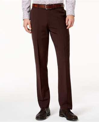 Bar III Men's Slim-Fit Active Stretch Wine Solid Suit Pants, Created for Macy's