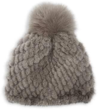 7437e930129a8c Pologeorgis Knit Mink & Fox Fur Pom-Pom Beanie
