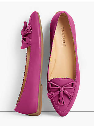 Talbots Francesca Tasseled Driving Flats - Napa Leather