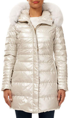 Gorski Apres-Ski Quilted Puffer Jacket w/ Detachable Fox-Fur Hood Trim