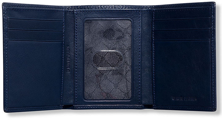 Perry Ellis Wallet, California Leather Trifold